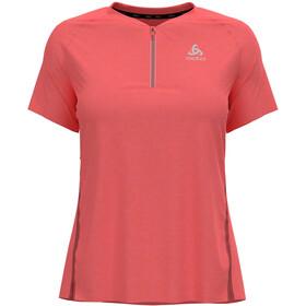 Odlo Axalp Trail T-Shirt S/S 1/2 Zip Women, siesta